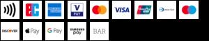 Wir bieten neben Barzahlung auch viele bargeldlose Zahlungsmöglichkeiten an. Von Kreditkarte über EC-Karte bis hin zu Apple Pay.